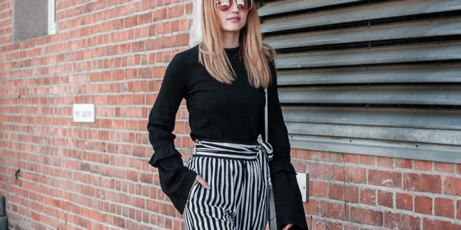 Classy Stripes Look in Schwarz & Weiß